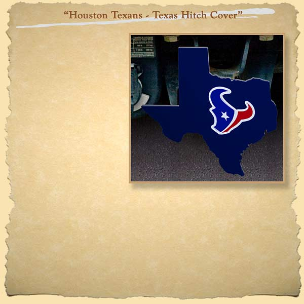 Houston Texans Painted on State of Texas Trailer Hitch Cover
