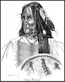 Sioux Warrior Native American Limited Edition Art Print
