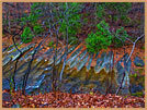 Photography River by Natural Bridge Giclee Print on Canvas